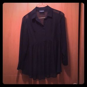 Women's Size 14/16 Black Baby Doll Top